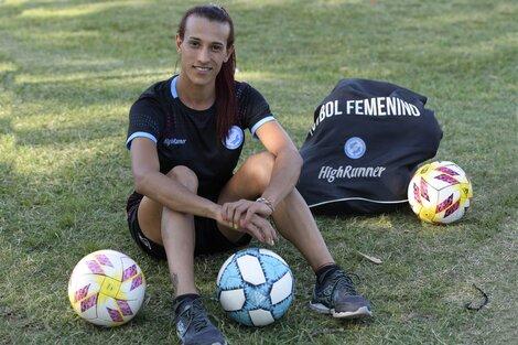 Mara Gómez, la primera jugadora transgénero de la máxima categoría del fútbol femenino. (Fuente: AFP)
