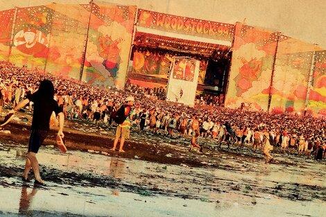 Woodstock a la altura del segundo día, con el desastre en ciernes.