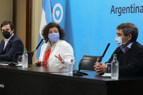 Kreplak, Vizzotti y Quirós anunciaron la autorización para combinar vacunas.