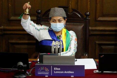 Elisa Loncon Antileo, mujer, mapuche, academica y presidenta de Convención Constitucional de Chile. (Fuente: AFP)