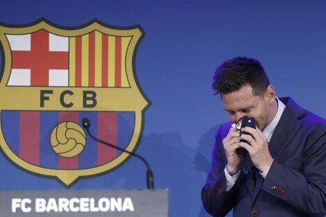 """Messi contó que tras el comunicado del Barcelona, él y su familia estaban""""ansiosos por la incertidumbre de lo que iba a pasar"""". (Fuente: EFE)"""