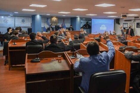 Solo hombres en la composición actual del Senado de Catamarca.