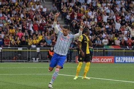 Cristiano Ronaldo festeja el gol del 1-0 (Fuente: AFP)