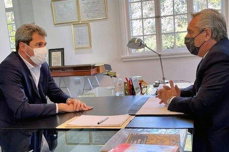 Alberto Fernandez se reunió con el gobernador de San Juan, Sergio Uñac, en Olivos.