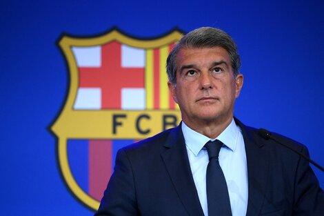 El presidente del Barcelona Joan Laporta (Fuente: AFP)