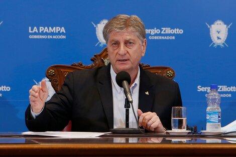 Gobernador de La Pampa Sergio Ziliotto. (Fuente: Télam)