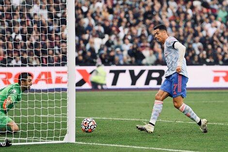 Cristiano la empuja para el 1-1 parcial (Fuente: NA)
