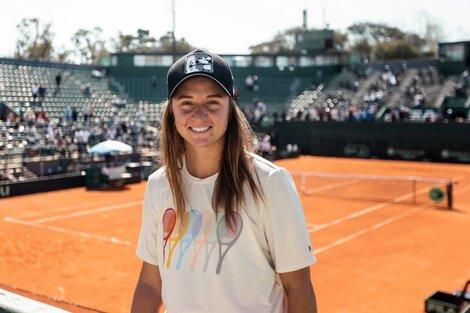 Nadia Podoroska, una de las figuras del WTA de Buenos Aires. (Fuente: Twitter)
