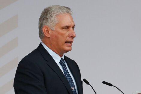 Díaz-Canel le contestó a Estados Unidos en la ONU. (Fuente: EFE)
