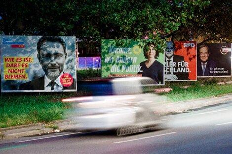 Propaganda electoral en la capital alemana en la previa de las elecciones. (Fuente: EFE)