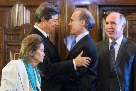 Horacio Rosatti, Carlos Rosenkrantz,Ricardo Lorenzetti yElena Highton de Nolasco.