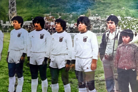 Maradona en Salta, en 1981.