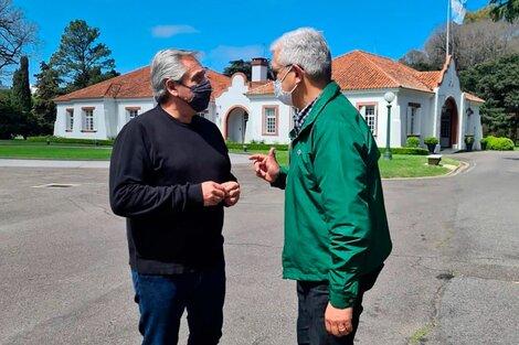 Domínguez visitó a Alberto Fernández en Olivos (Fuente: NA)