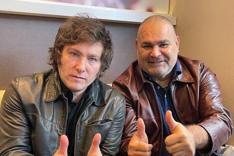 Javier Milei y José Luis Chilavert en el encuentro que mantuvieron la semana pasada (Fuente: Twitter Chilavert)