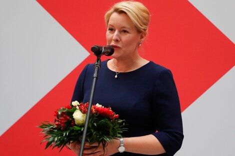 La elección de este domingo en Alemania consagró a Franziska Giffey como alcaldesa de Berlín. (Fuente: EFE)
