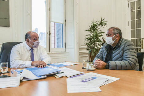 El jefe de Gabinete, Juan Manzur, recibió ayer, entre otros, a Héctor Daer.