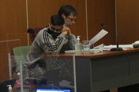 Lautaro Teruel y su abogado