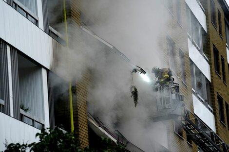 El edificio de la ciudad de Gotemburgo, en Suecia, donde se produjo la explosión. (Fuente: AFP)