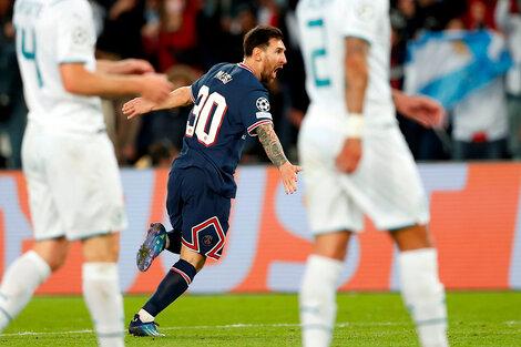 El argentino, a pura alegría en el festejo de su gol