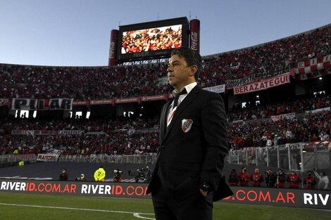 Gallardo festejó el triunfo y el regreso de los hinchas (Fuente: Prensa River)