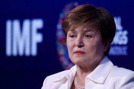 Kristalina Georgieva,titular del Fondo Monetario Internacional (FMI). (Fuente: AFP)