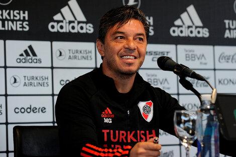 Gallardo habló en una conferencia de prensa (Fuente: Prensa River)