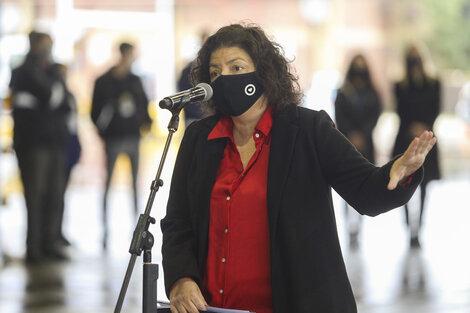 Carla Vizzotti, ministra de Salud. (Fuente: NA)