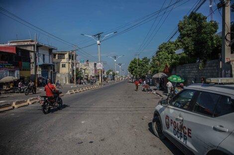Calles vacías por el paro en la maltratada nación caribeña. (Fuente: AFP)