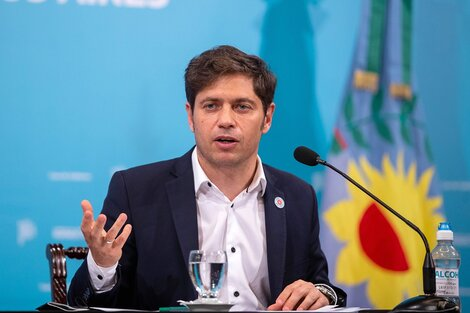 """Axel Kicillof, respaldó la decisión del Gobierno nacional de congelar por 90 días los precios de 1.432 productos de la canasta básica """"para que nadie se haga el piola""""."""
