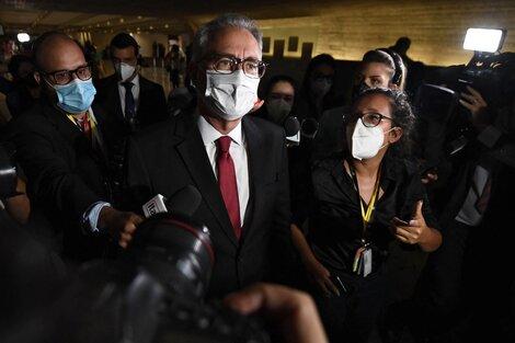 Renán Calheiros, presidente de la comisión investigadora del Senado (Fuente: AFP)