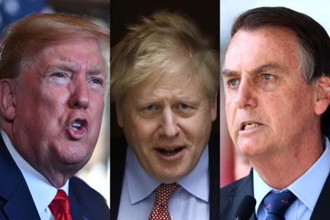 Trump, Bolsonaro y Johnson: el eje viral | Coronav... | Página12