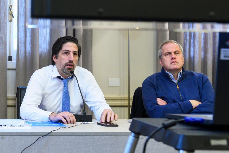 El ministro Nicolás Trotta y el secretario de Políticas Universitarias, JaimePerczyk.