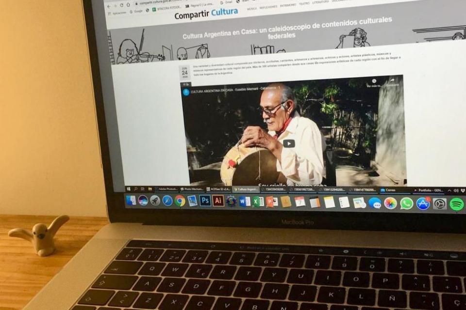 """Campaña """"Cultura Argentina en Casa"""""""