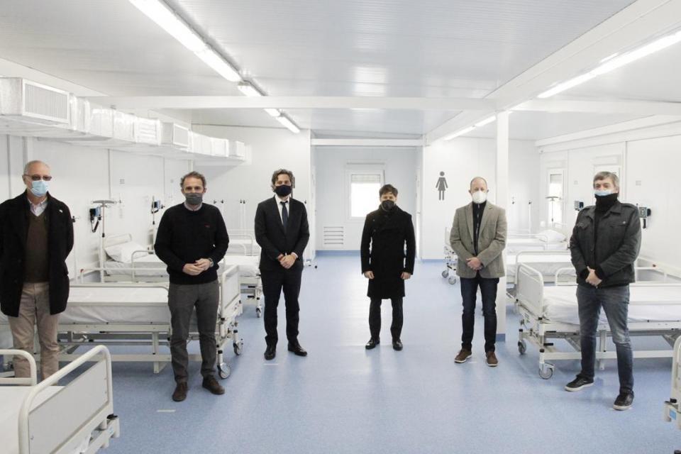 Coronavirus: Martín Insaurralde inauguró el Hospital Modular de Emergencia de Lomas de Zamora