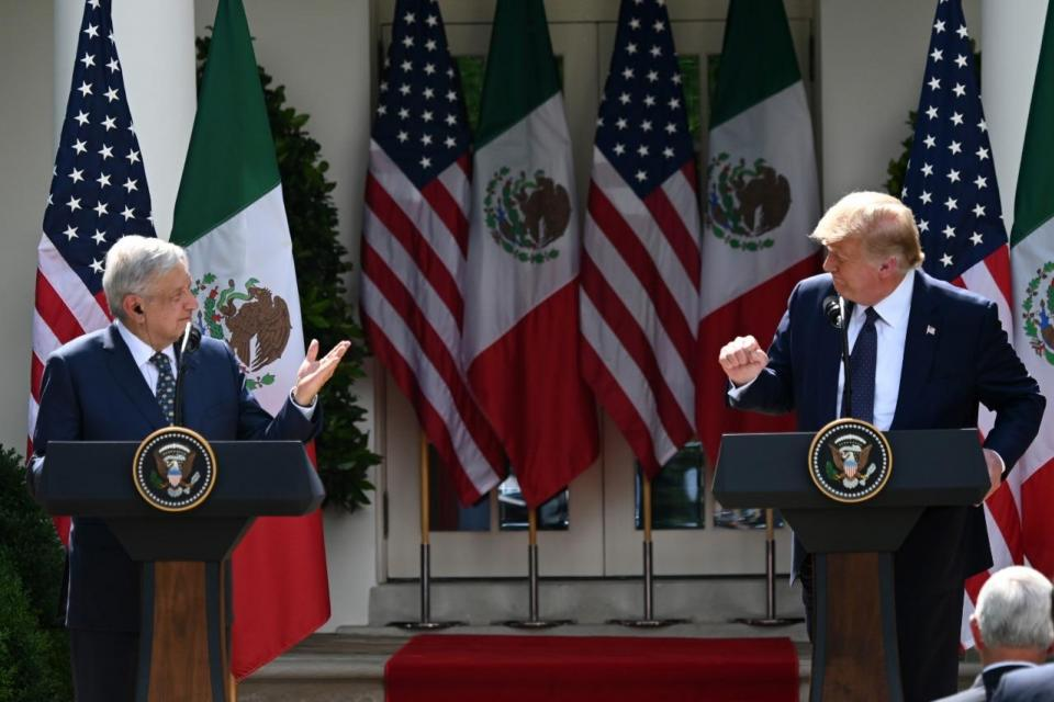 Trump elogió a López Obrador en la Casa Blanca