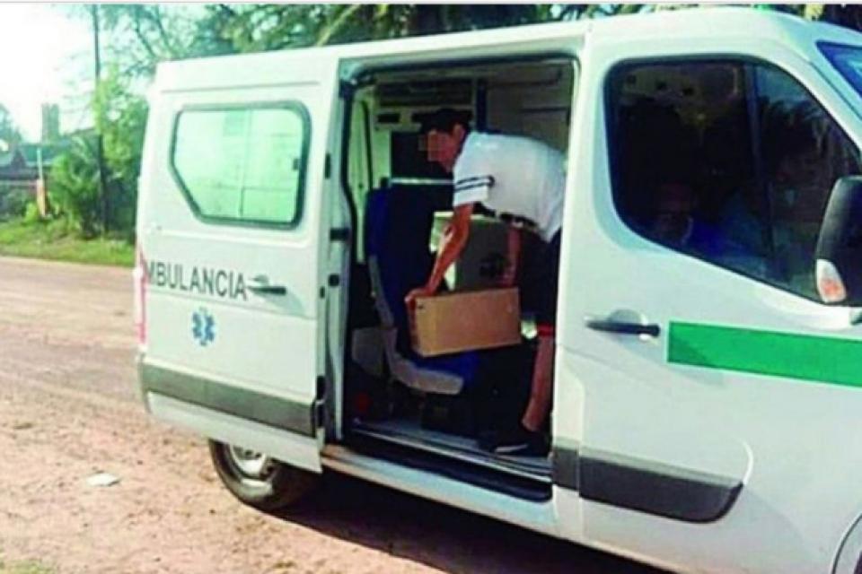 Detuvieron una ambulancia cargada con cajas de fernet