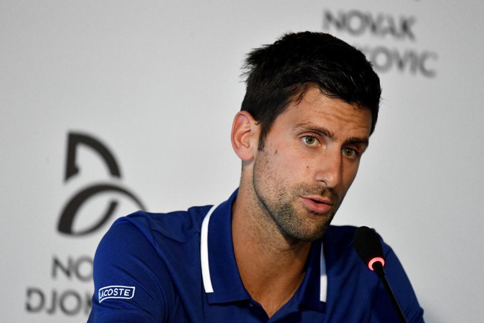 """Coronavirus: Djokovic siente que hay """"una caza de brujas"""""""