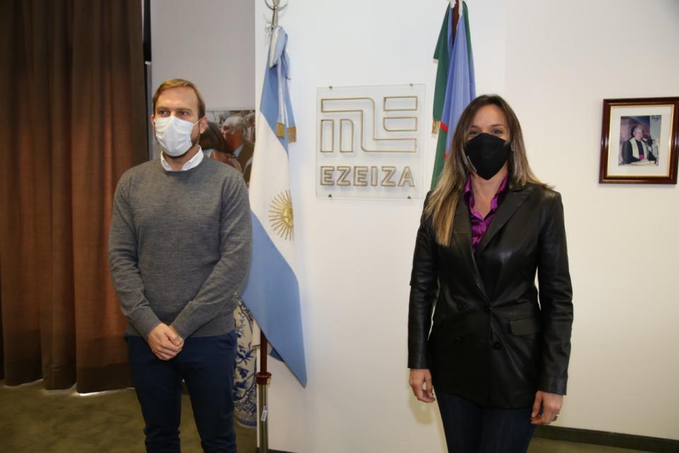 Malena Galmarini activó obras de saneamiento en Ezeiza
