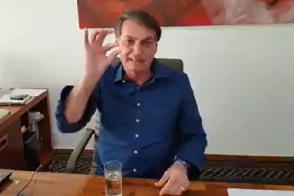"""El polémico video de Bolsonaro tomando cloroquina en cámara: """"Con toda certeza esta funcionando"""""""