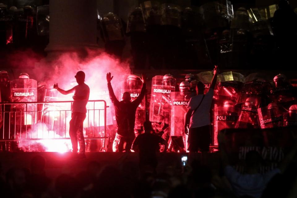 Violencia en Belgrado
