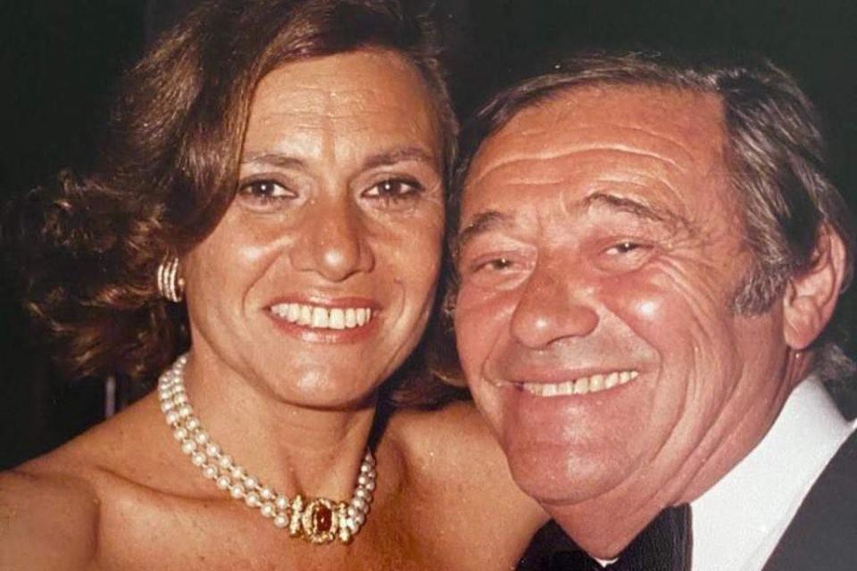 Tato Bores junto a Berta, su pareja de toda la vida.