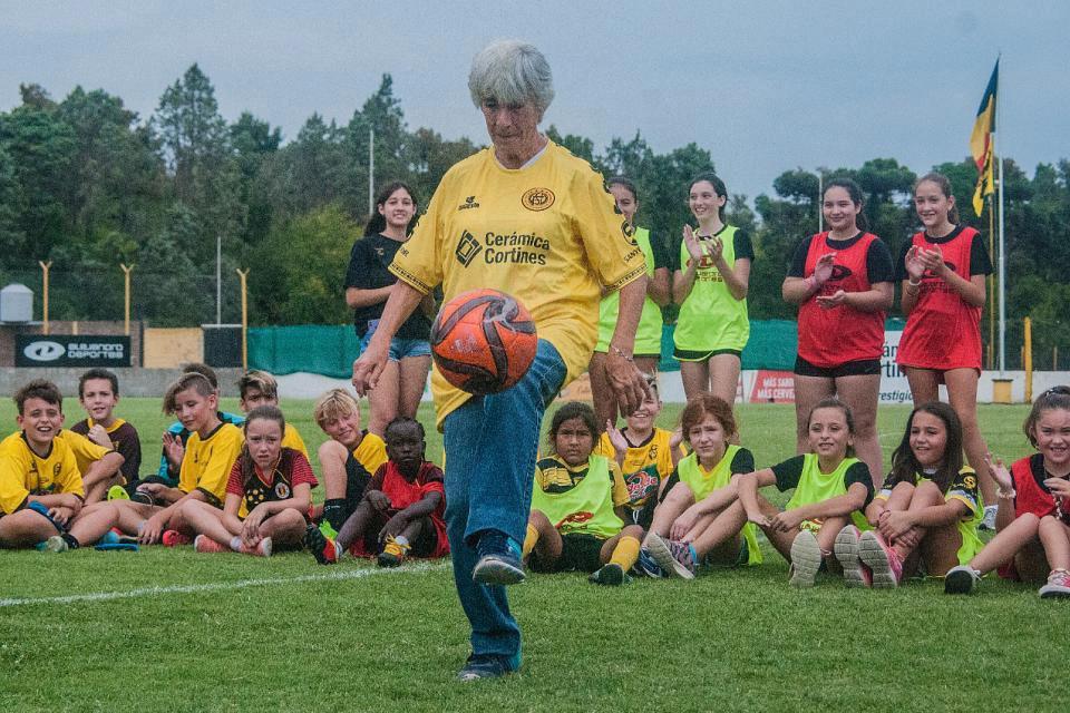 Elba Selva, una de las referentes del fútbol femenino nacional.