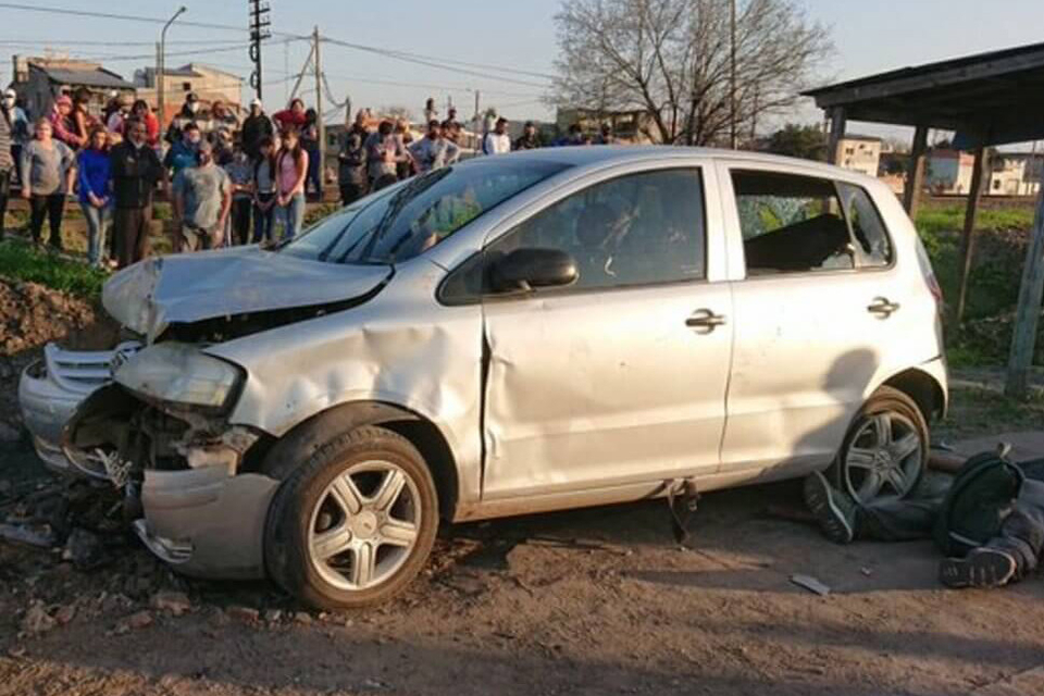 Uno de los vehículos involucrados en la picada ilegal.