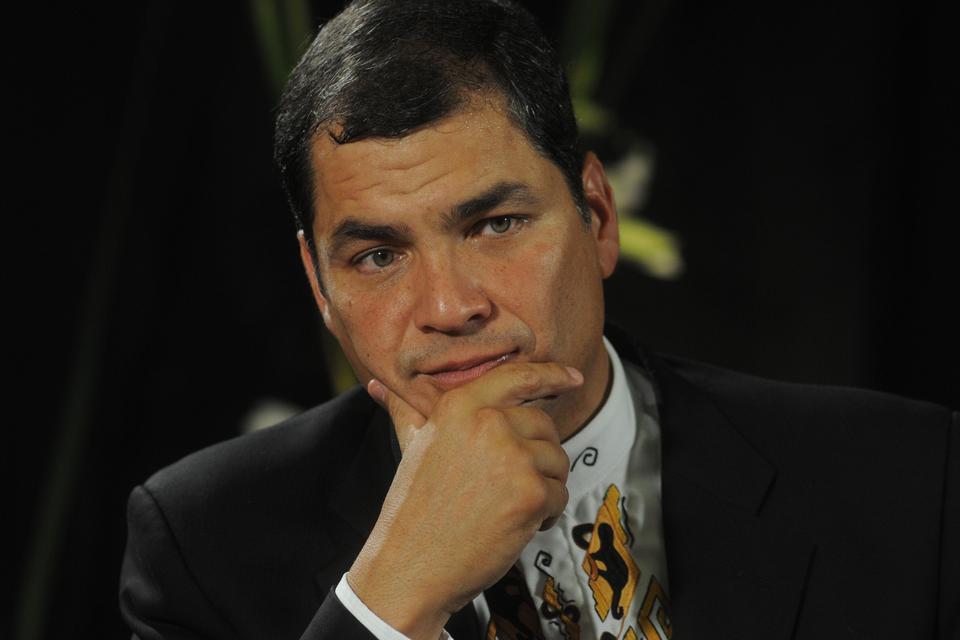 Correa fue objeto de un pedido de captura de la justicia ecuatoriana.