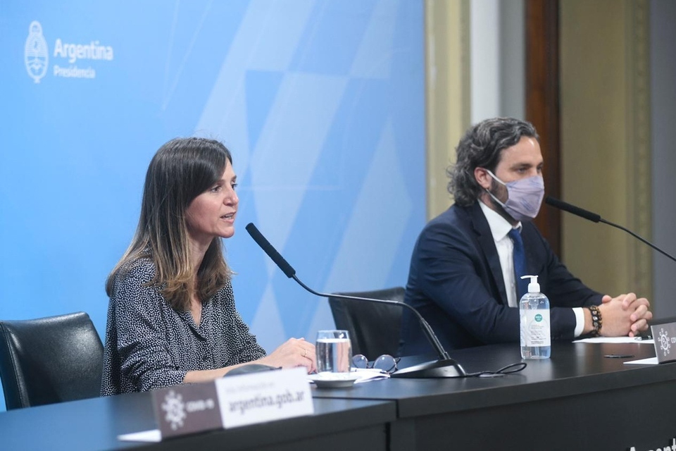 """""""Estamos recomponiendo las pérdidas de 2018 y 2019"""", señalaron Raverta y Cafiero."""