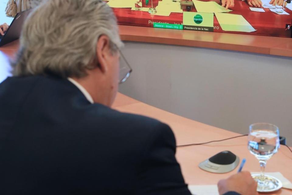 """""""Celebro este encuentro para darle al Mercosur el impulso que está necesitando y es imperioso que Brasil y Argentina lo hagan juntos"""", dijo Fernández."""