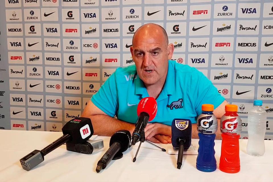 Mario Ledesma, entrenador de Los Pumas.