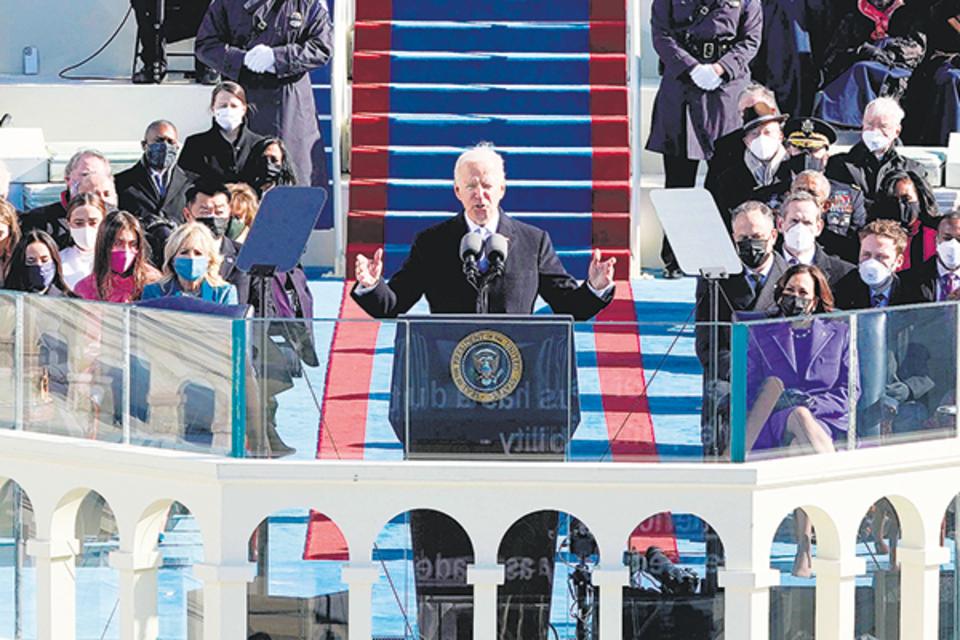 Joe Biden en su discurso de asunción.