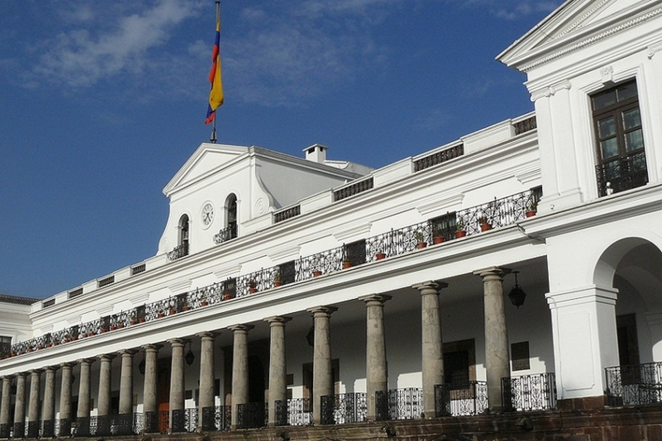 Palacio de Carondelet, sede del gobierno ecuatoriano.