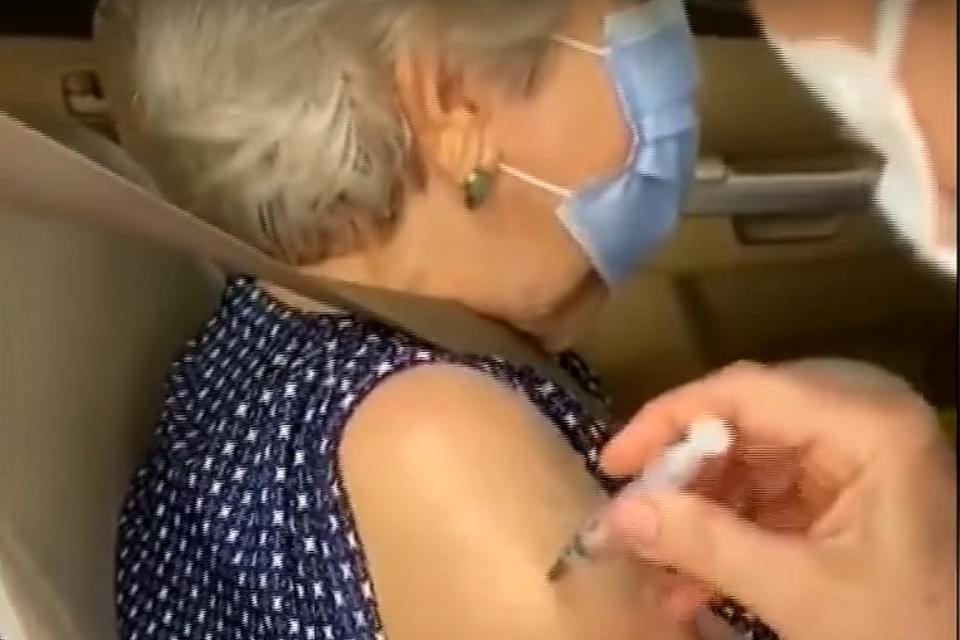 Captura de video de una de las damnificadas.